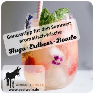 Empfehlung für den Sommer: Hugo-Erdbeer-Bowle